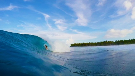 Indo surfing featuring Brad Wallace